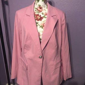 Cute pink blazer!